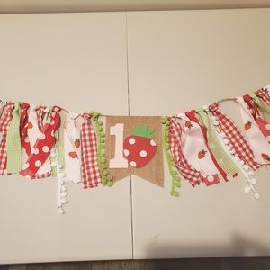 First birthday highchair banner